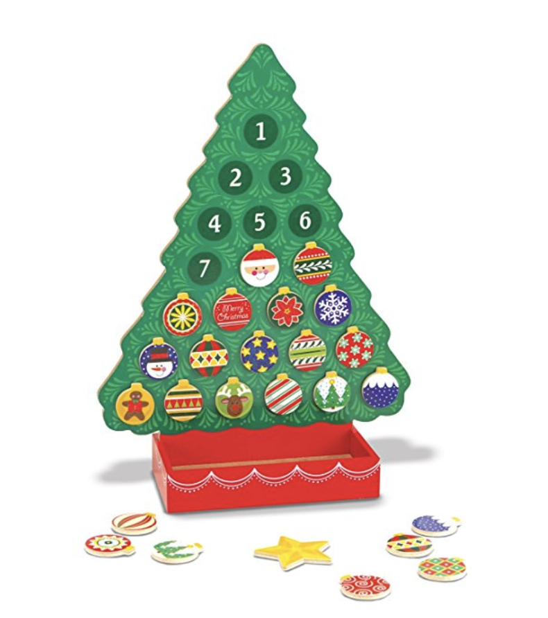 [affiliate link]  Melissa & Doug Magnetic Wooden Advent Calendar , $17.99
