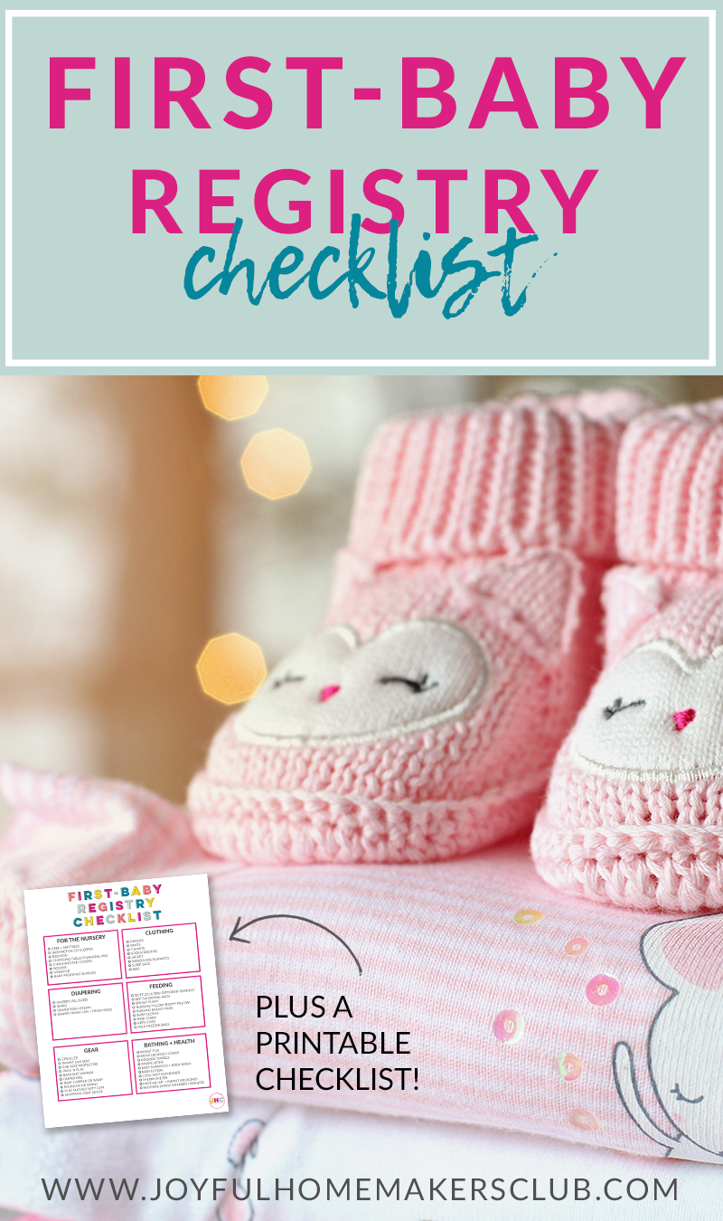 Getting ready for your first #baby? Grab your #printable #registry #checklist!