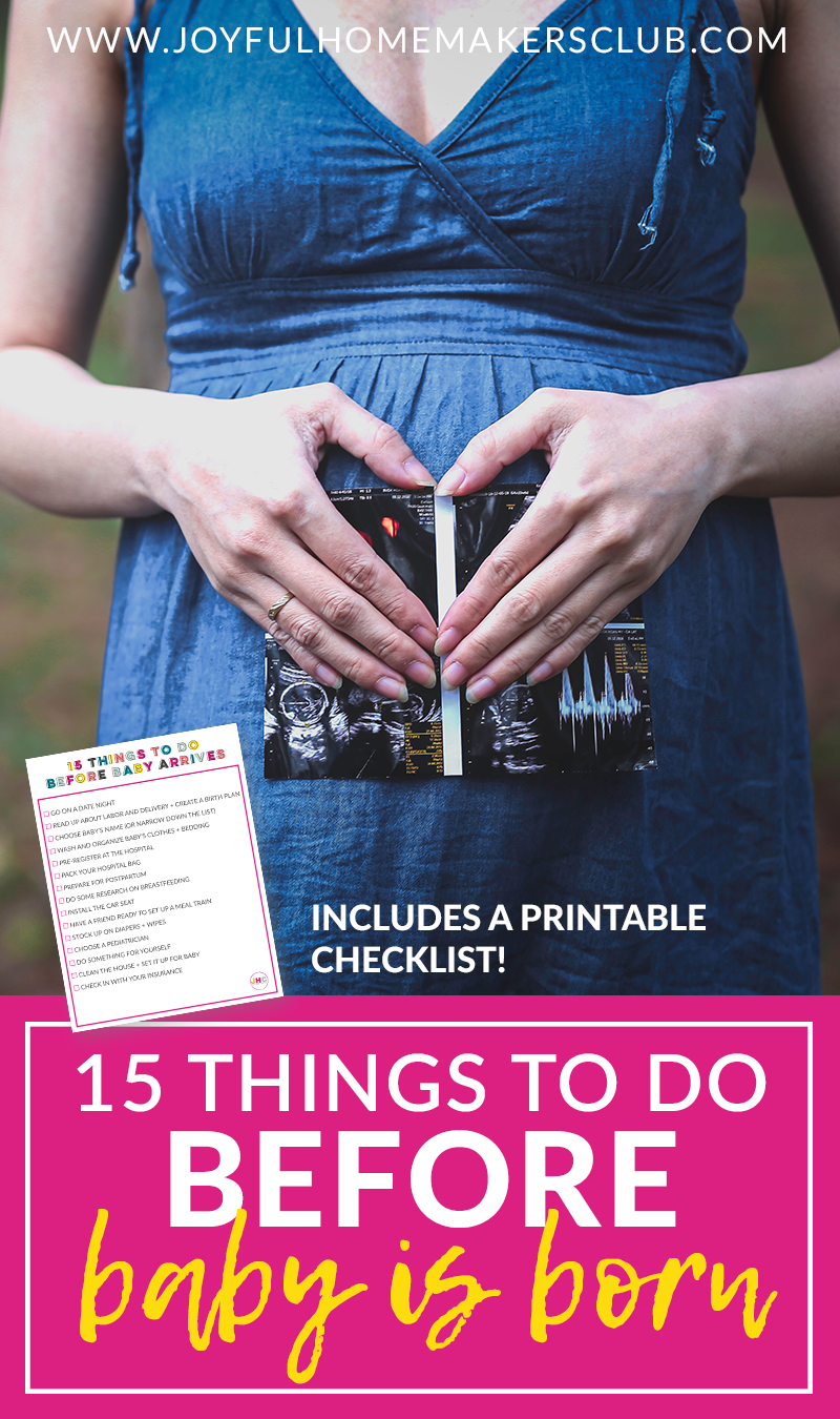 a #checklist of 15 things to do before #baby is born! #pregnancy #newmom #momtobe