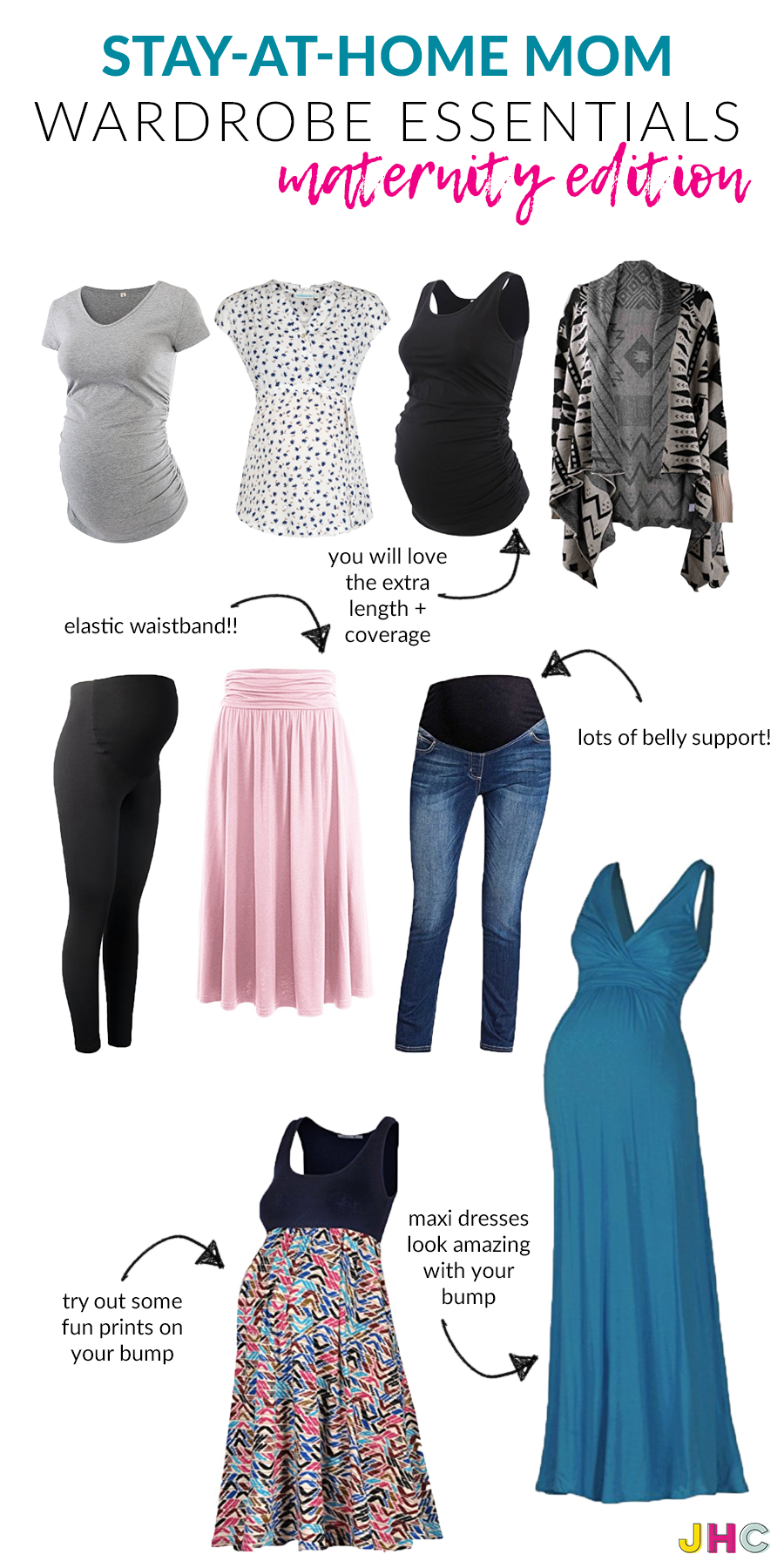 Your #maternity #style staples if you are a #SAHM #stayathomemom #bumpstyle
