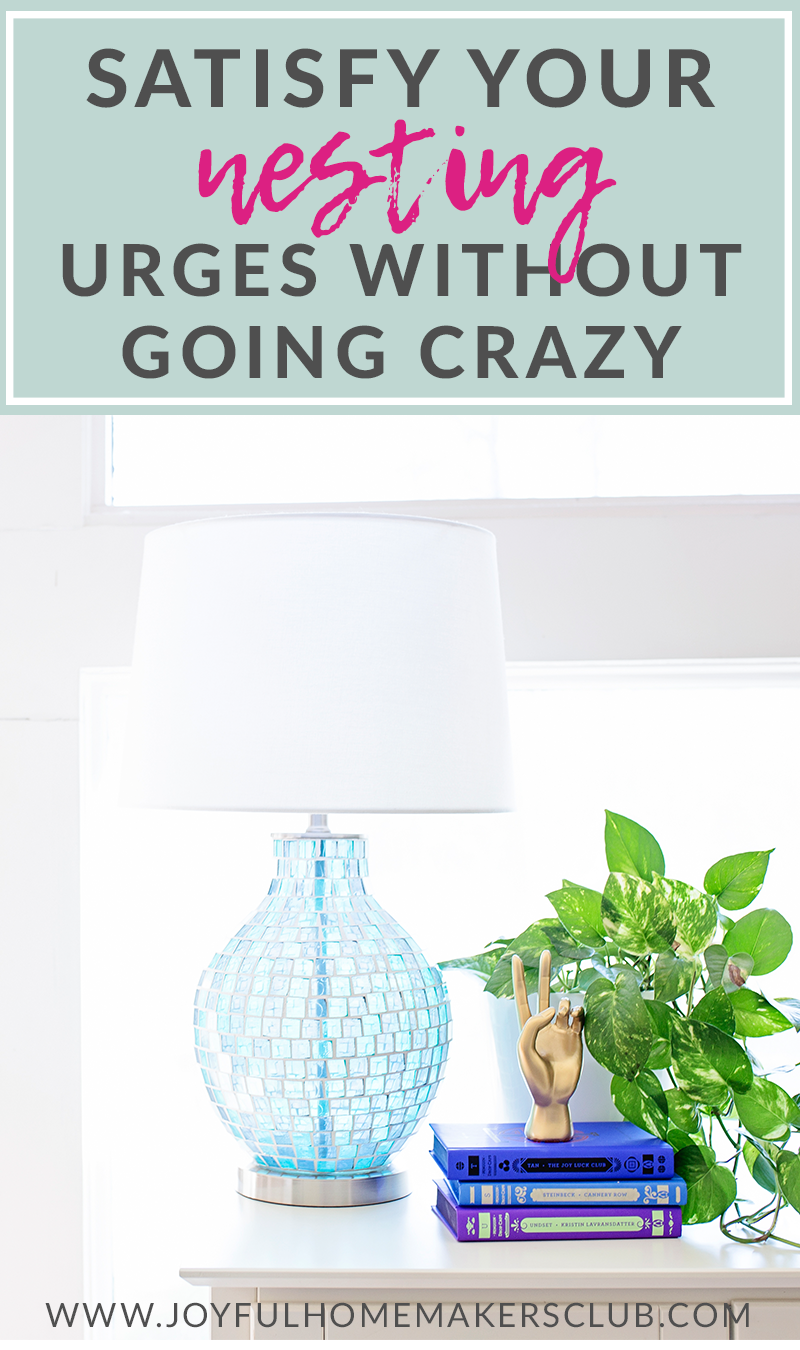 How to satisfy your #nesting urges without spending all the money #budgetfriendly #pregnancy #pregnantmama #momlife #homedecorating #decoratingtips