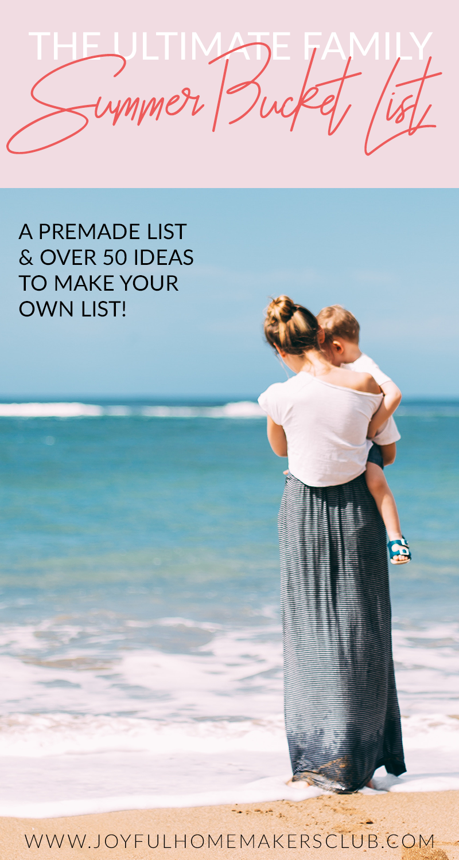 The ultimate list of activities for your family's summer bucket list #bucketlist #summertime #kidsactivities #summeractivities #summer #momlife