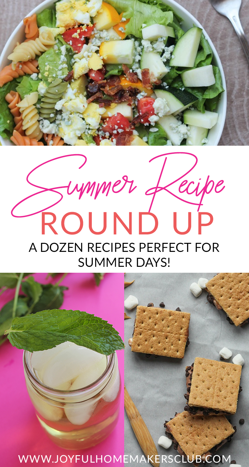 A roundup of recipes that are perfect for summertime! Ice cream sandwiches, meadow tea, salads, and more! #summer #recipes #roundup