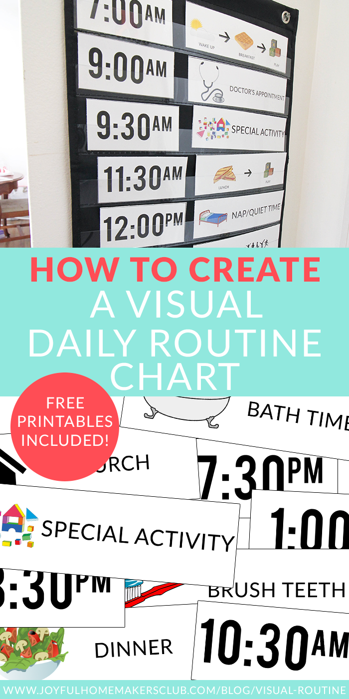create a visual #dailyroutine #chart for your #preschooler and #toddler includes #free #printables