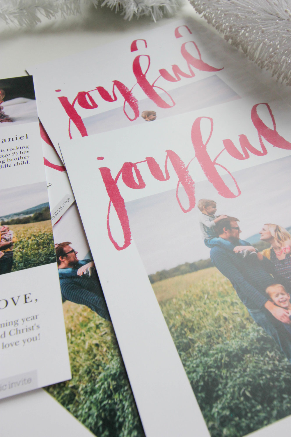Beautiful, custom holiday cards created in under 30 minutes! #custom #christmascards #affordable #christmas #BasicInvite