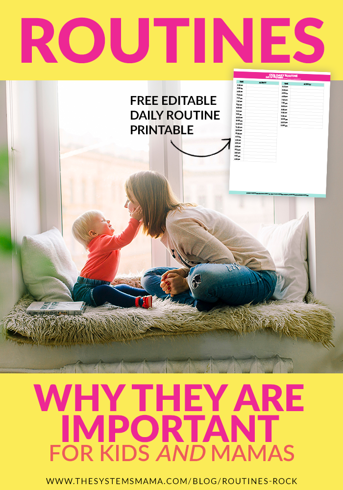 Routines aren't restricting or overwhelming…they are so freeing and provide structure and stability for kids.  www.thesystemsmama.com/blog/routines-rocks