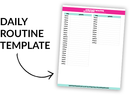 free daily routine template in the free resource library  thesystemsmama.com/library