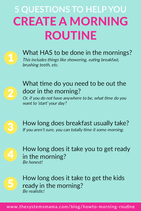 """create a morning routine to say """"goodbye!"""" to chaotic mornings"""