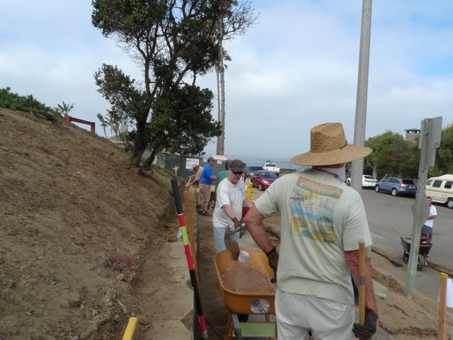 Copy of EACEA Volunteers Installing Erosion Wattles Along North Side Of PVS.
