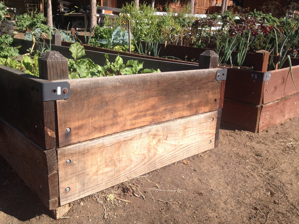 Example of raised beds to be constructed 11/19/2016