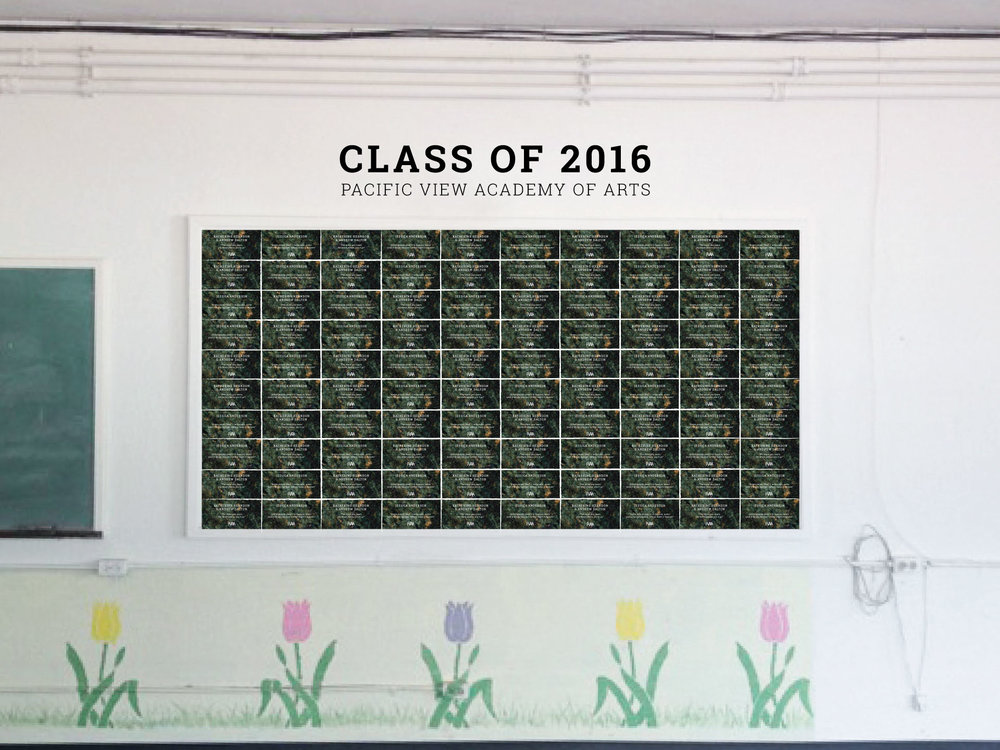 Concept image of proposed Class Of 2016 Donor Wall, courtesy Of ThinkPARALLAX.