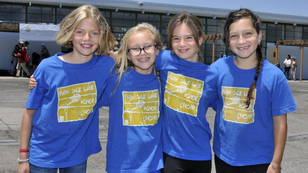 Park Dale Lane choir members Olivia, Ruby, Gabriela, Emilia, PVS Block Party June 11. Photo courtesy of McKenzie Images and Del Mar Times.