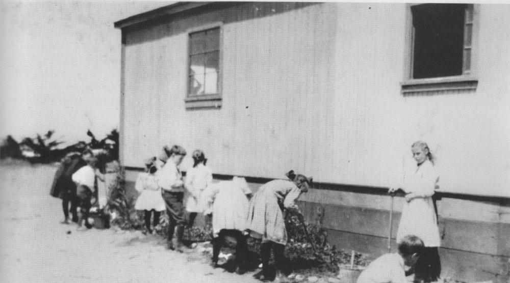 Schoolhouse Garden Circa 1900