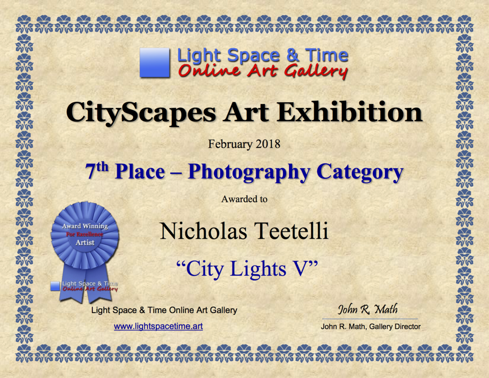 2018-02 LS&T 7th Place - Cityscapes Art Exhibition AWARD City Lights V.png