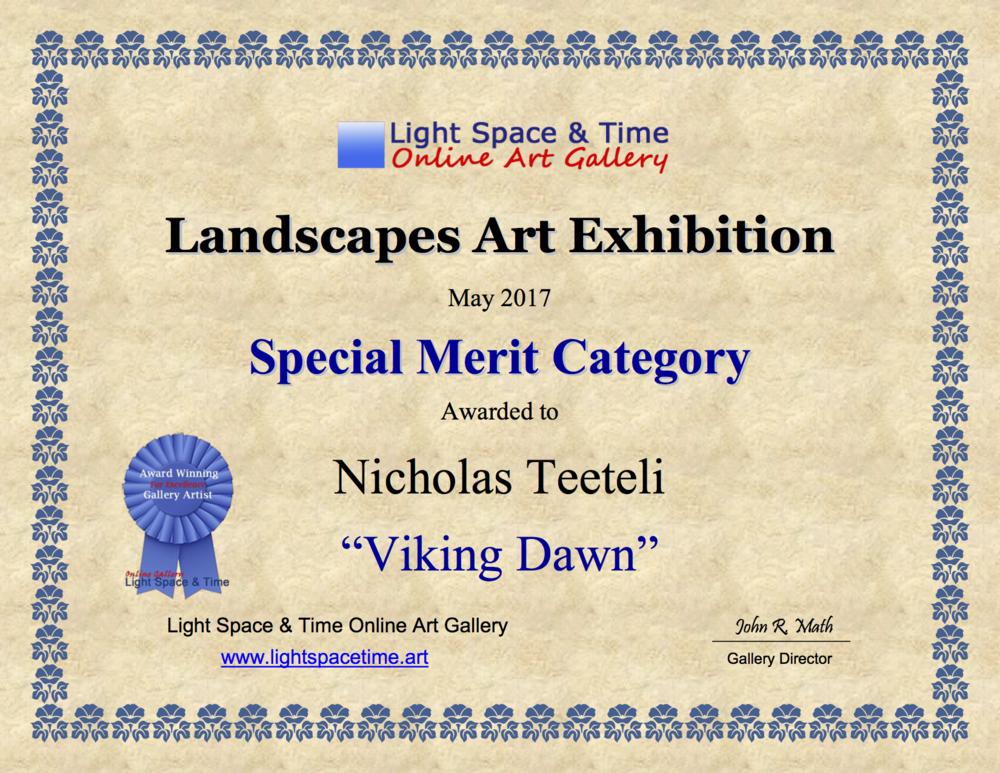 2017-05 LS&T SM - Landscapes Art Exhibition Award Viking Dawn.png