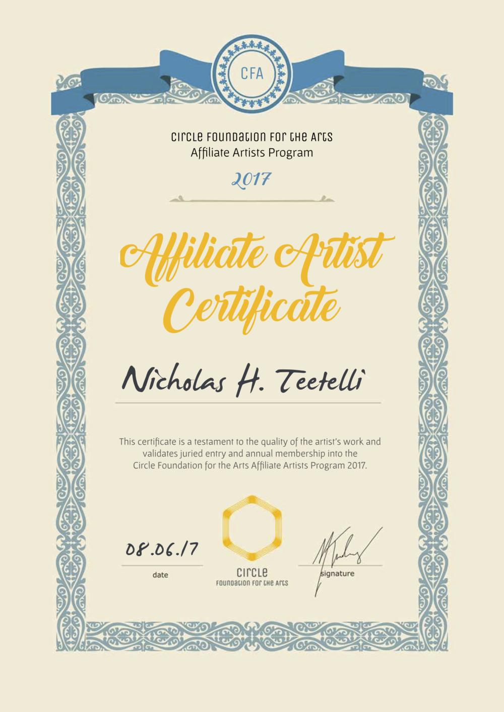 2017-06 CFA Affiliate Certificate - Nicholas Teetelli.png