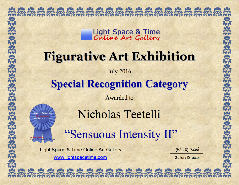 2016-07 LS&T Art Exhibition- Figurative Art - Special Recongniton -Sensuous-Intensity II.png