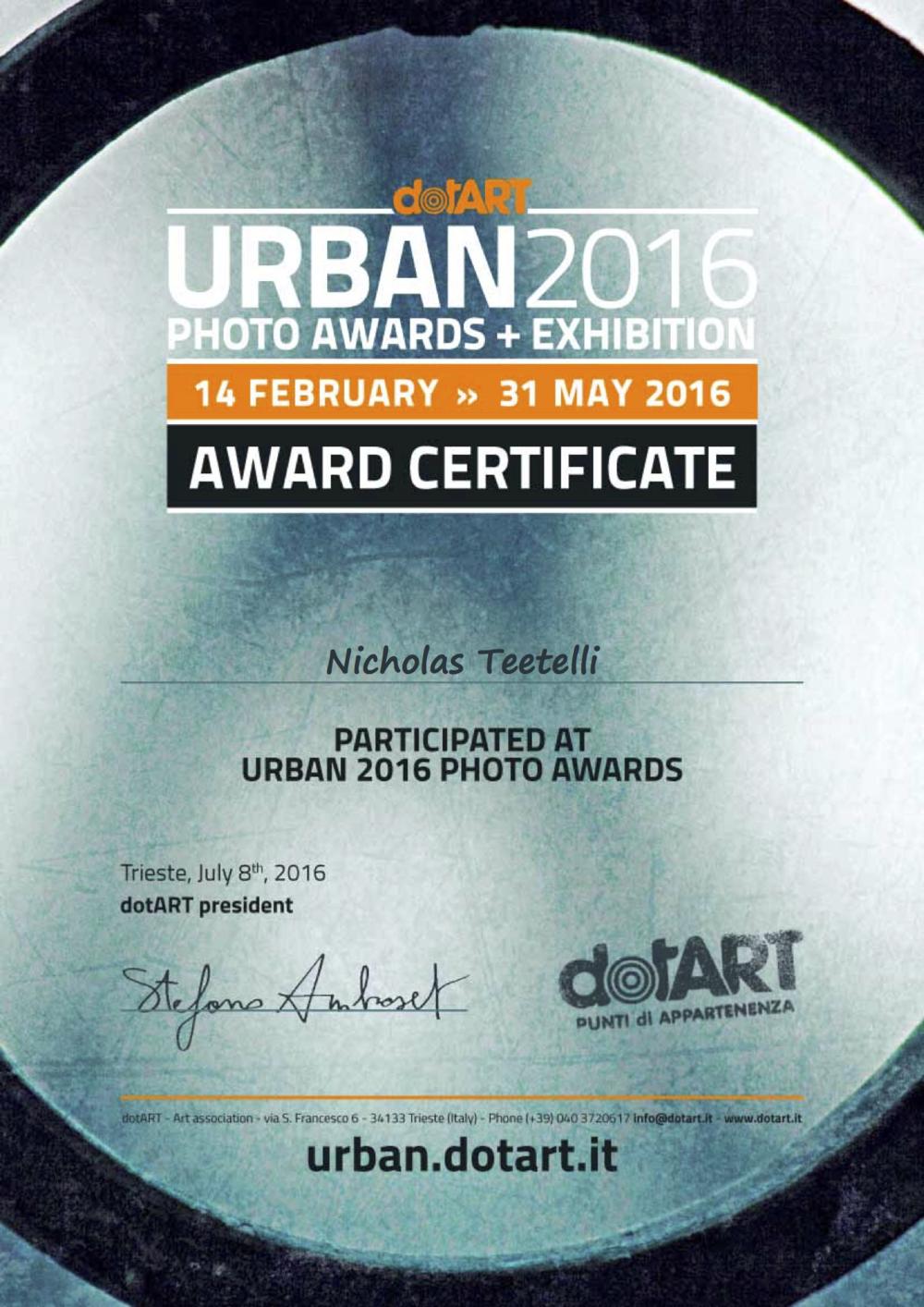 2016-07 Urban 2016 Award - Trieste Italy- Crucero.png