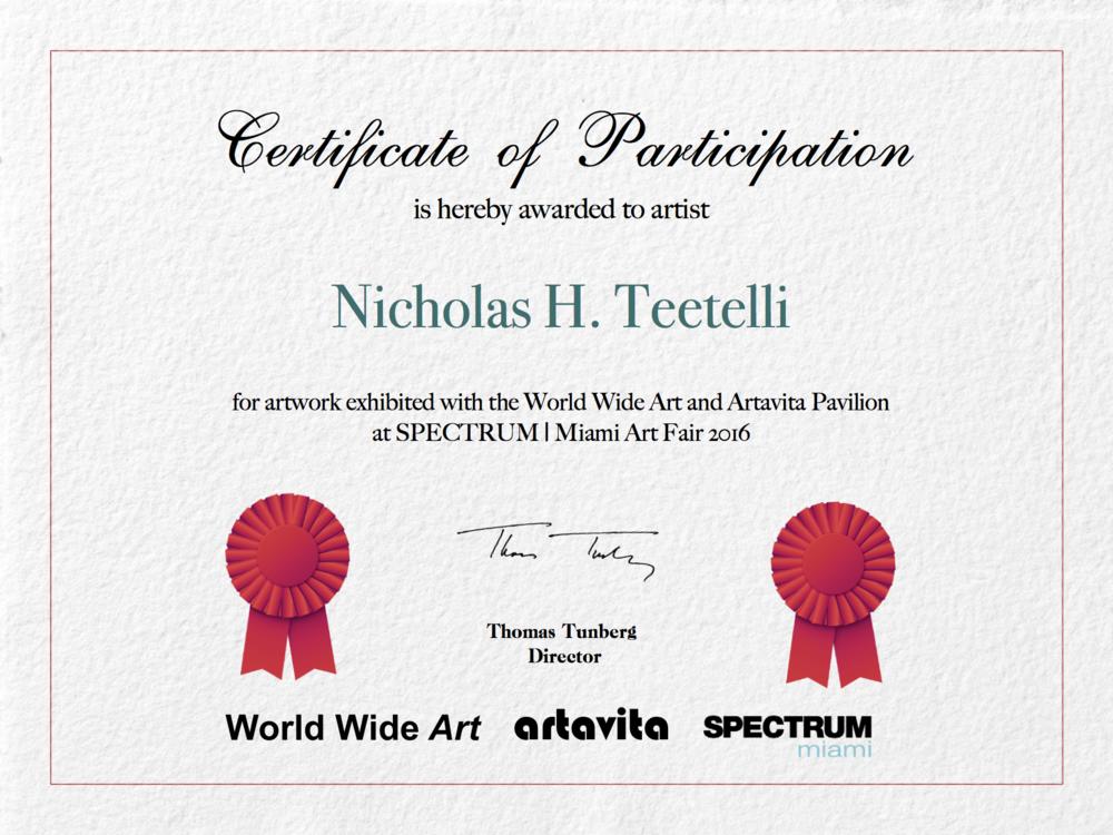 2016-12 Participation Certificate-WWAA-Spectrum 2016.png