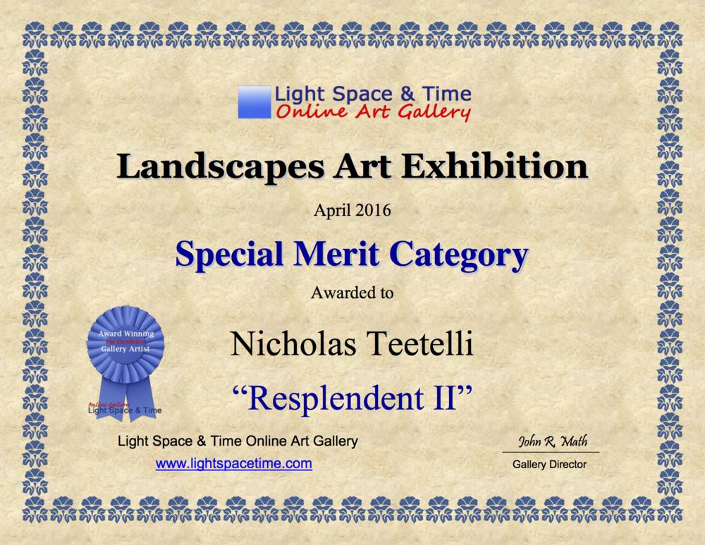 2016-04 LS&T Art Exhibition- Landscapes - Special Merit - Resplendent II.png