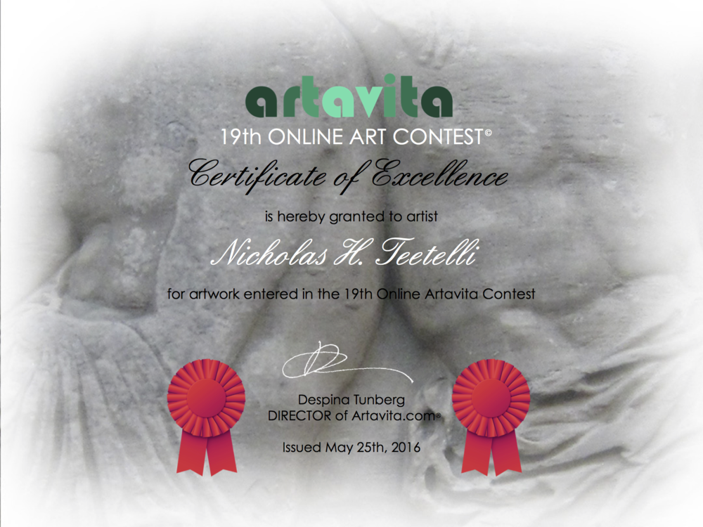 2016-05 Artavita -Current Masters- Certificate of Excellence - Nominee.png
