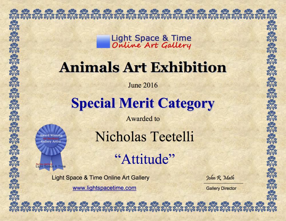 2016-06 LS&T Art Exhibition- Animals - Special Merit - Attitude .png
