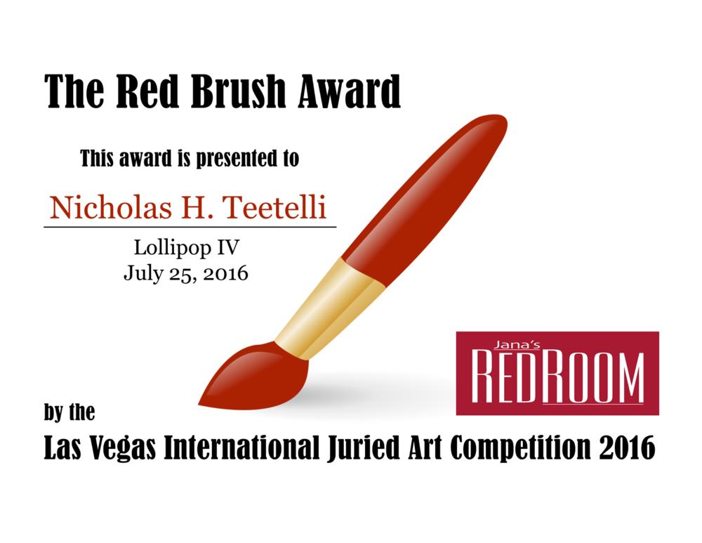 2016-07 Las Vegas International Lollipop IV Red Brush Award.png