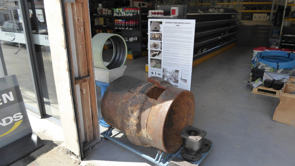 An air release valve installed in Oamaru's water system in 1880 and replaced in 2012.