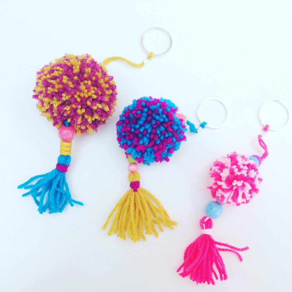 POM POM KEY RING WORKSHOP -