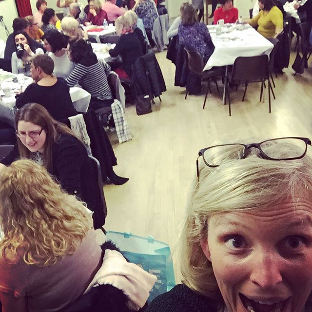 Yikes,so many of you! And what a blast, thank you so much for having me May Flowers WI!! You were a fab audience 😍 #healthymind#growthmindset #metime #creativeworkshops