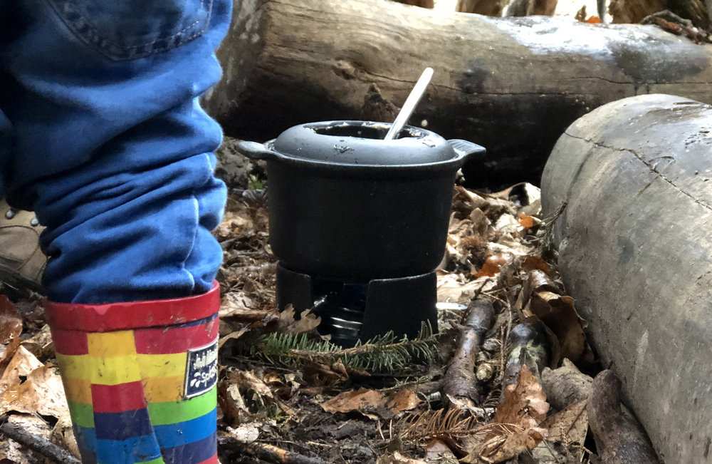fondue in the forest - winer family fun