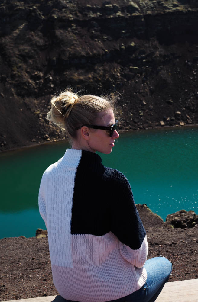 Volcanic crater lake Kerið   Two Drops Of Water