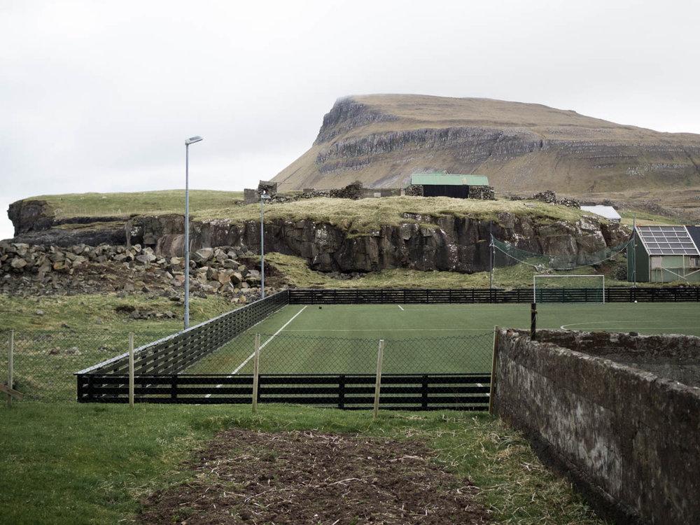 Football field on Nólsoy, Faroe Islands   Two Drops Of Water