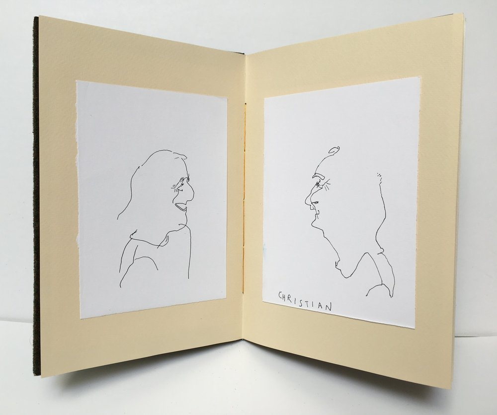 Blind Contour Collection | Handmade Book | 10x8""