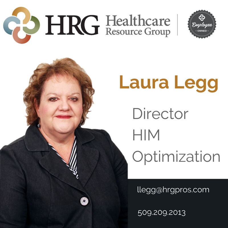 Click here to email Laura, HRG Health Information Management Optimization Specialist!