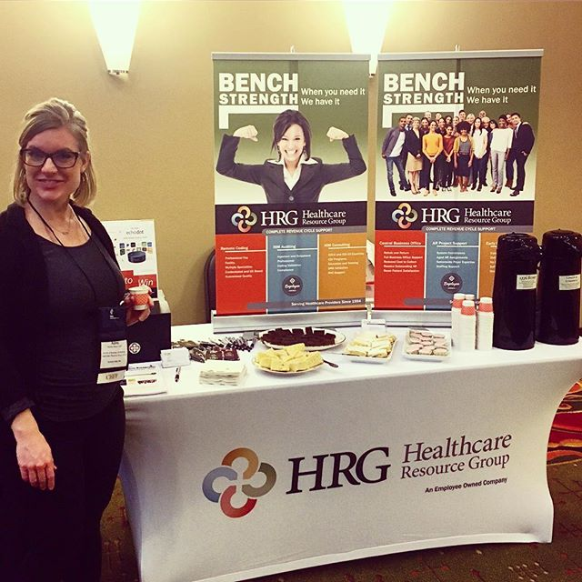 The 2017 HFMA Indiana Winter Institute just got a little sweeter thanks to #TinasTraditionalTeaRoom and our very own revenue cycle specialist Aubrey! You just can't beat solving revenue cycle problems over delicious pastries. 😀 #hfma #carmelindiana #revcycle #conference #hrgpros