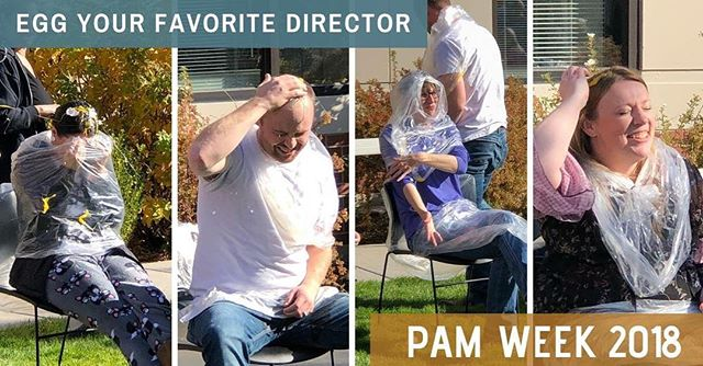 Pajama day AND a raffle to crack an EGG on your favorite director's head... does it get much better than that?? Patient Account Management week is still going strong here at #HRG and we still have two more days of fun! #PAMWeek #BestPlacesToWork #WorkHardPlayHard