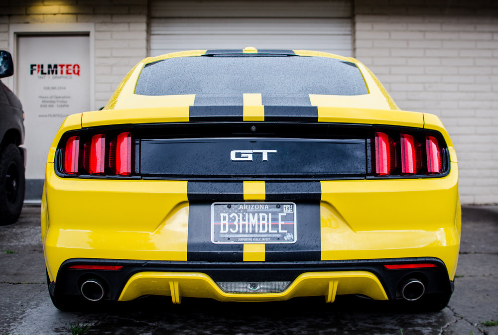 Orafol 970ra MattE BLACk on a 2014 Mustang GT