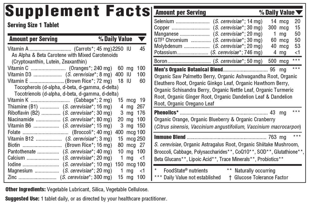 Mens over 40 multiple Vitamin