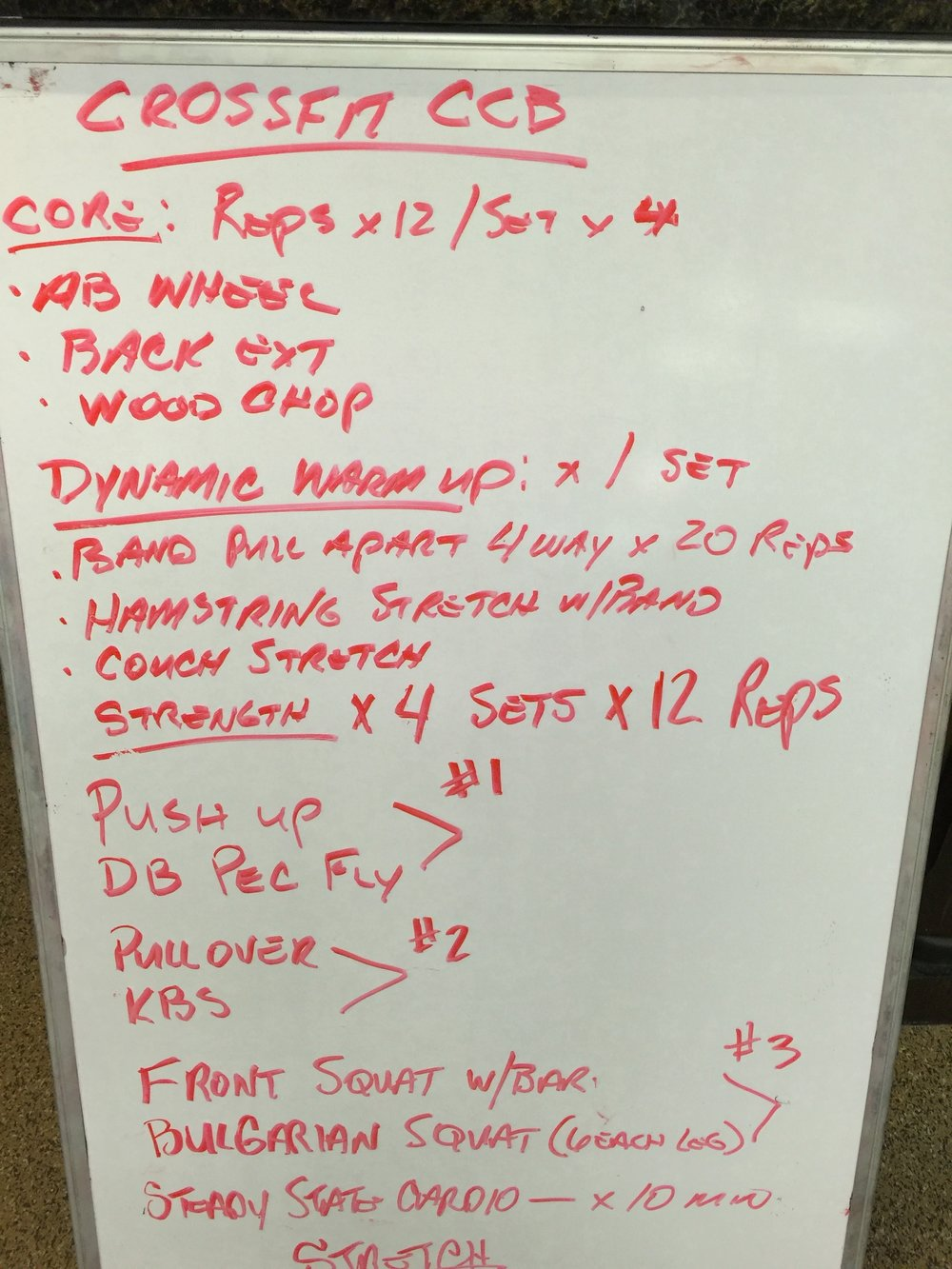 Strength WOD 9/9/16