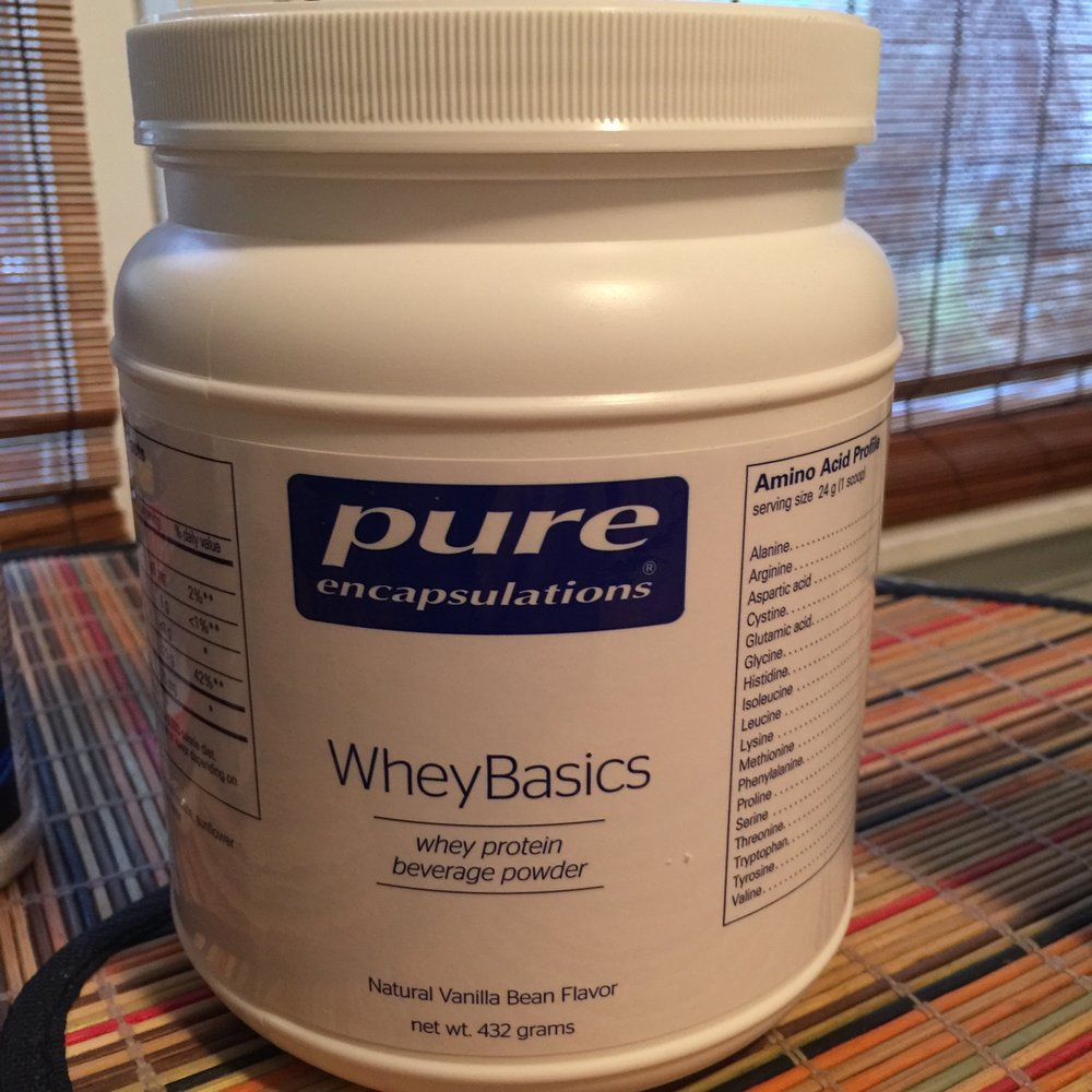 100% Pure Whey Protein Isolates from Pure Encapsulations manufactured at very low temperatures to maintain all its immune building properties and enzymes . It has a very neutral taste that mixes up easy no clumping. We have some in our store check it out at Pure Whey Protein Isolate
