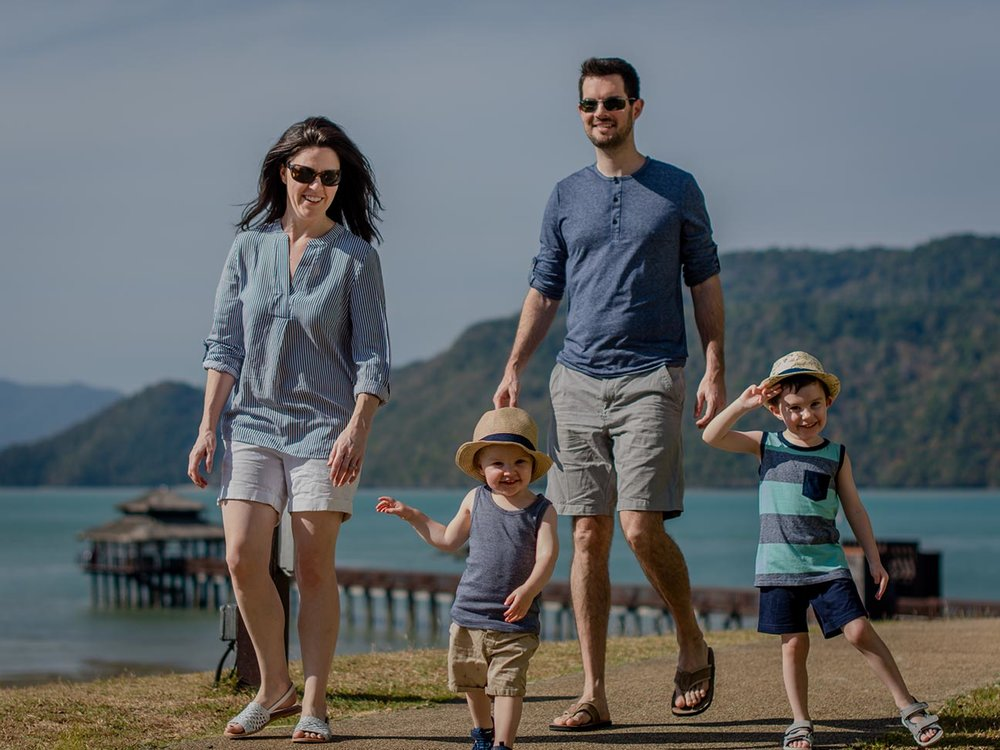 One of our family photos taken by the Westin in house photographer.