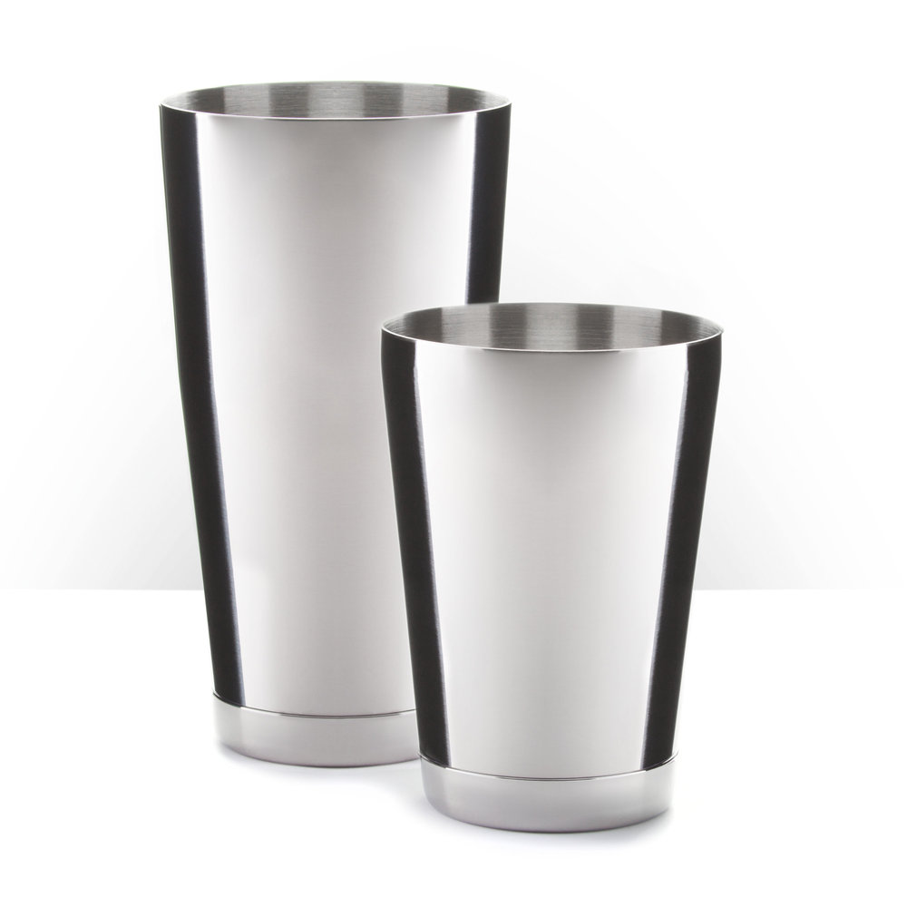 Piña Barware Stainless Steel Commercial Bar Boston Shaker Tin Set - 28oz. & 18oz •   COMING VERY SOON