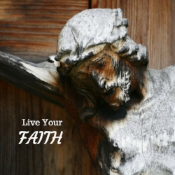 We keep our focus on the words of Pope Francis – Live Your Faith