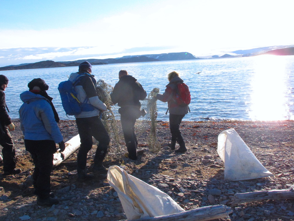 Us cleaning in Svalbard 2015, image C Devine
