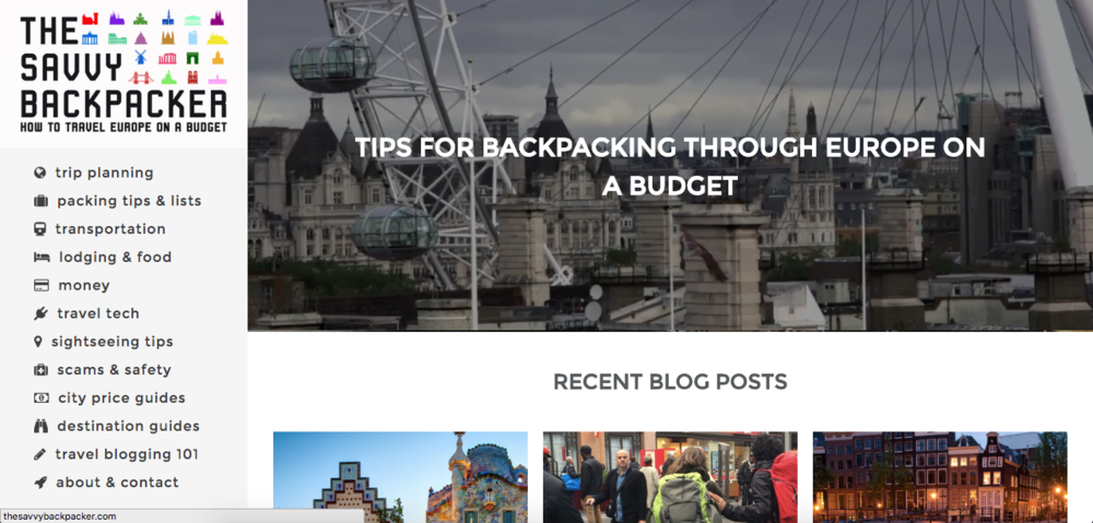 The Savvy Backpacker Screen Print