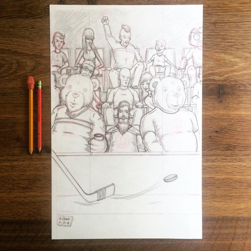 GeorgeHage_Art_CanesBruinsPencils.JPG
