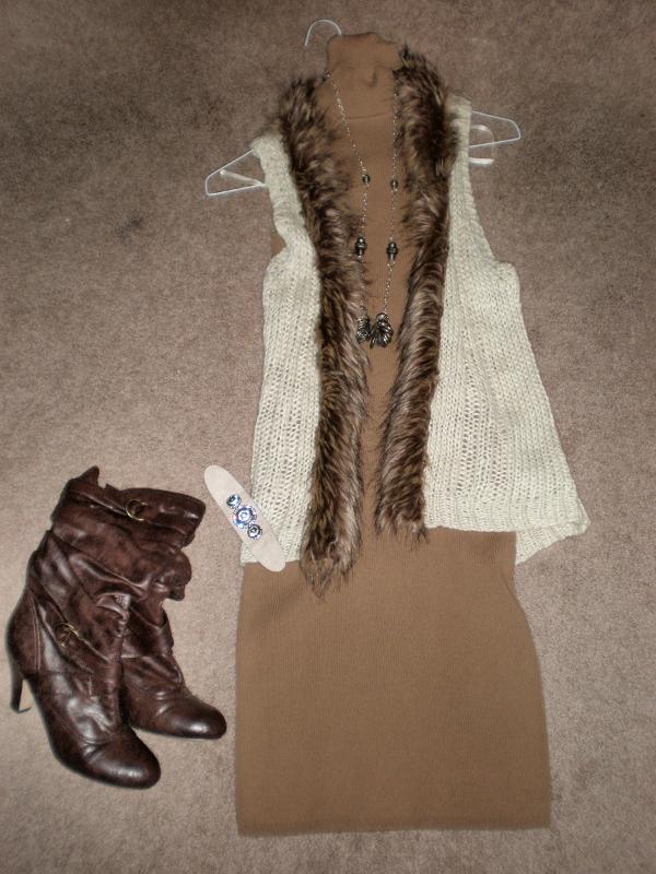 Fur-Vest-Boots
