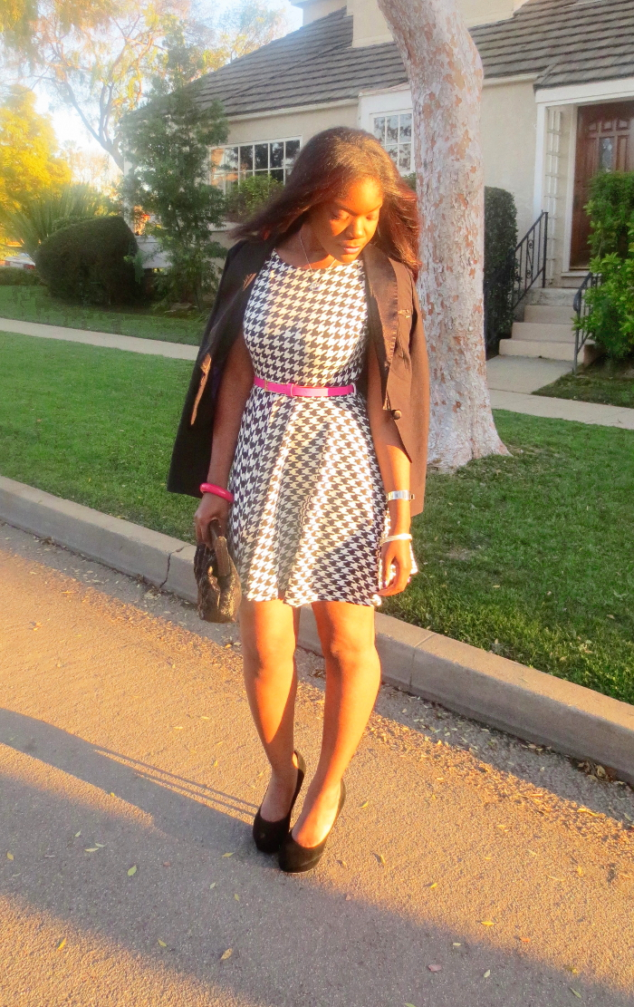 Houndstooth Dress w/ blazer