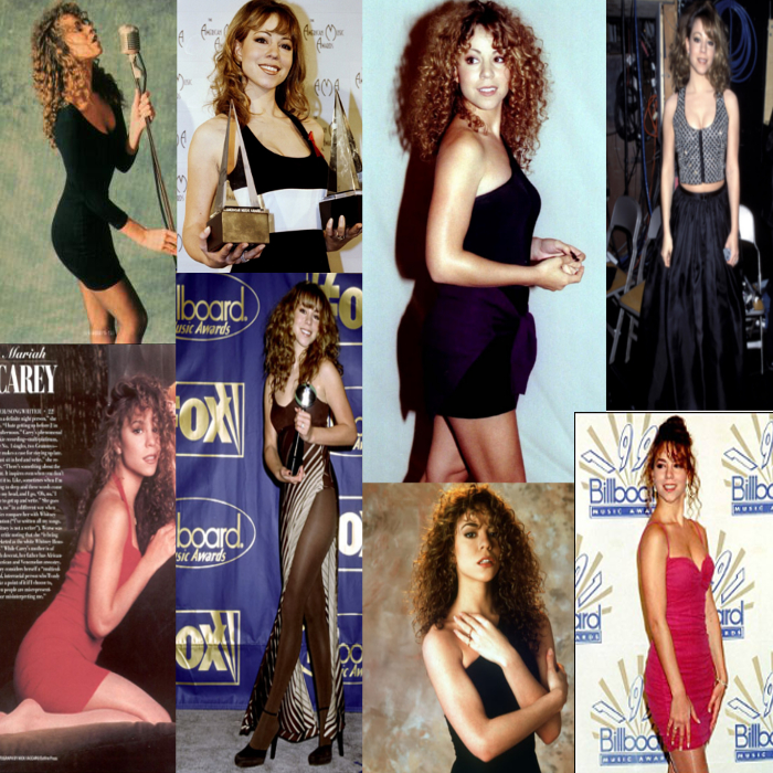 Mariah Carey 90's fashion style